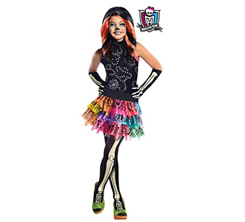 Generique - Skelita Calaveras Monster High-Kostüm für Mädchen (Skelita Kostüm High Monster)