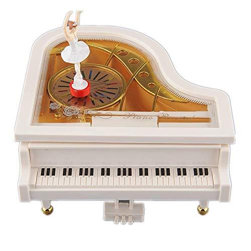 BGFBHTY Lovely Dreamer White Piano Dancer Dancing Alice Ballet Girl Music Music Box