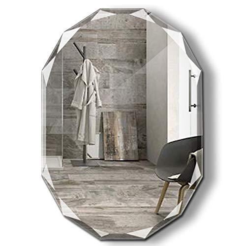 Rahmenloser Spiegel   Badezimmer, Schlafzimmer, Akzentspiegel   Oval mit überbackenen Kanten Hängt Horizontal & Vertikal Rahmenlos 3 Größe -