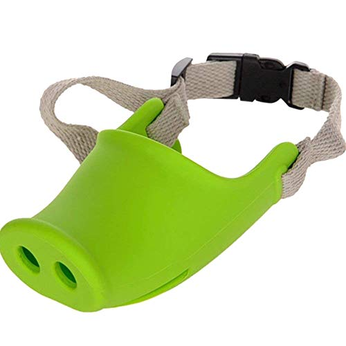 Breathable Pig Dog Muzzle Mundmaske Silikon Anti-Bite Bellen -