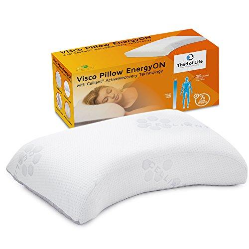 *Seitenschläfer-Kissen EnergyON | Regenerations-Nackenstützkissen mit Celliant-Tech-Bezug für mehr Erholung im Schlaf | Höhenverstellbar, klinisch getestet, ideal für Sportler und Leistungsträger*