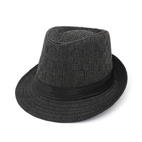 Sonnenschutz-Strohhut Für Frühling Und Sommer, Jazzhut Für Herren Und Damen,Black -