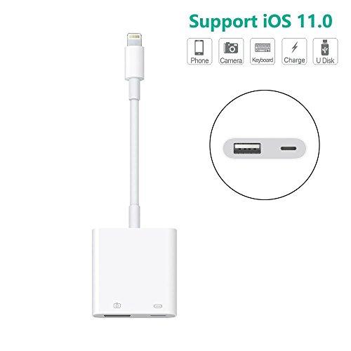 Lightning vers USB femelle câble adaptateur avec interface d'alimentation USB de synchronisation de données Câble de charge pour iPhone iPad