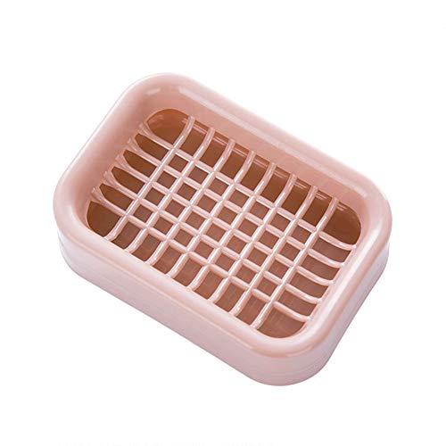 (Gmgqsago Doppelschichtiger Abtropfständer für Seife, aus Kunststoff, Blau Rose)