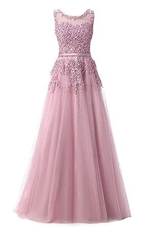 La_mia Braut Navy Blau Damen Langes Spitze Abendkleider ...