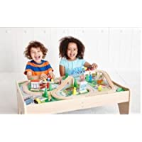 B-Creative Kids Wooden Train Track and Table Big City Role Play Pretend Present