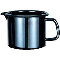 GSW 255141professionale Black Star Pentolino per latte, Smalto, Nero, 14cm