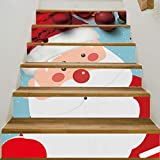 YYFW 6 pezzi di Babbo Natale 3D Adesivi per scale Adesivi autoadesivi Adesivi decorativi