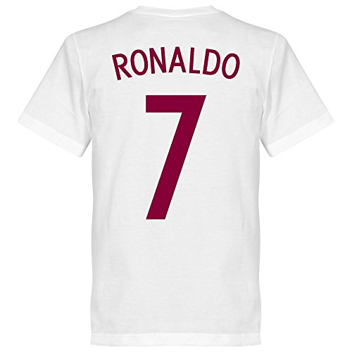 Portugal Europameister 2016 Ronaldo T-shirt - weiss - L