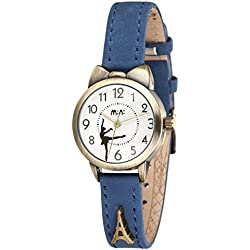Vintage strap ladies watch/Quartz water resistant timepiece/Simple casual watches-B