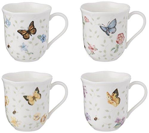 Lenox Butterfly Meadow Becher, Porzellan, weiß, 10 Ounce Butterfly Meadow China