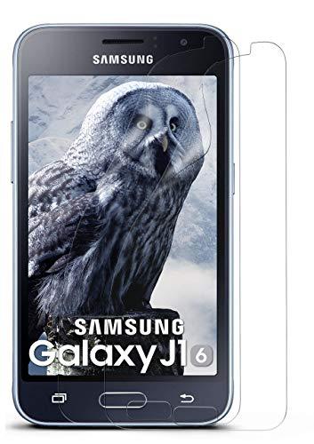 moex 2X Samsung Galaxy J1 (2016) | Schutzfolie Klar Bildschirm Schutz [Crystal-Clear] Screen Protector Display Handy-Folie Dünn Bildschirmschutz-Folie für Samsung Galaxy J1 2016 Bildschirmfolie