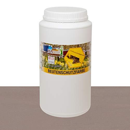 HAresil Beutenschutzfarbe Beutenschutz Bienen Beuten Lasur eco ungiftig Farbe grau Inhalt Gewicht 2 kg