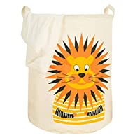 LEELI Toy Large Storage Bin Basket, Collapse Cotton Linen Cartoon Toy Bin for Organizing Kids Laundry Basket/Kid
