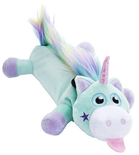 Fringoo - Astuccio di peluche a forma di unicorno, per ragazze, morbido e con una grande capacità, ideale come astuccio per cancelleria per la scuola, colore: menta