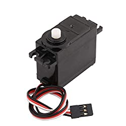 Sourcingmap Black Insulation Housing Mini Servo Motor for RC Robot Holicopter Toy w Stand Set