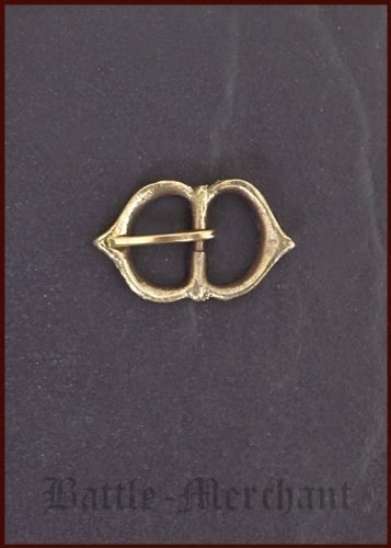 End of the Middle Age brass buckle, no 21 - Strap width: Up to 15 mm