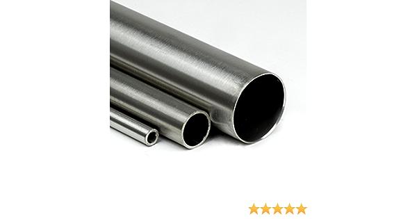 L/änge 700mm 70cm auf Zuschnitt Edelstahl Rundrohr V2A /Ø 80x2mm K240