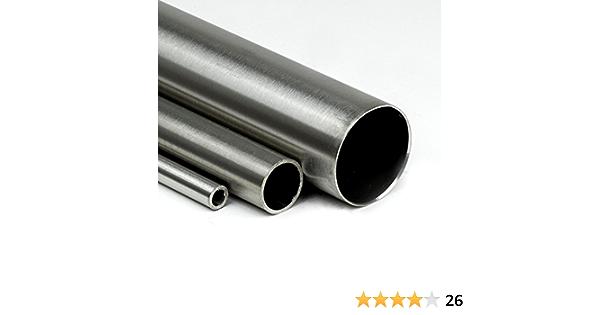 L/änge 400mm K240 Edelstahl Rundrohr V2A /Ø 28x2mm 40cm auf Zuschnitt