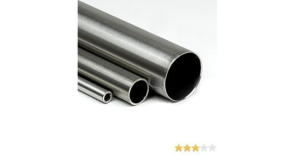 L/änge 1200mm 120cm auf Zuschnitt K240 Edelstahl Rundrohr V2A /Ø 60,3x2mm