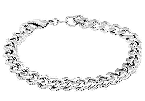 Bijoux pour tous - Bracciale unisex, acciaio inossidabile, 216 mm, cod. 0.23.5224