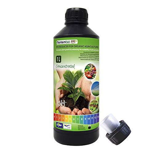 Ernte Wasser (NortemBio Agro Ökologischer pH Reduzierer 1L. Universeller Einsatz. Entkalker der Bewässerungssystemen. Ernten mit mehr Geschmack und Aroma.)