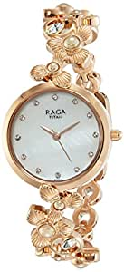 Titan Raga Aurora Analog Mother of Pearl Dial Women's Watch-NK95048WM01