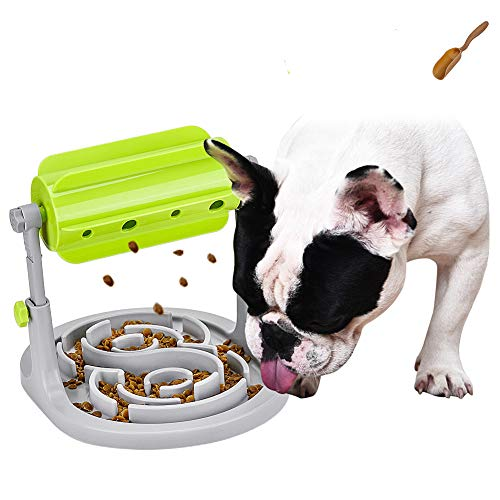 LOGEEYAR Interaktives Spielzeug für Hunde und Katzen Hundenapf Futterspender Snacknapf Intelligenzspielzeug für Haustier Hundespielzeug Puzzle langsam Essen Feeder
