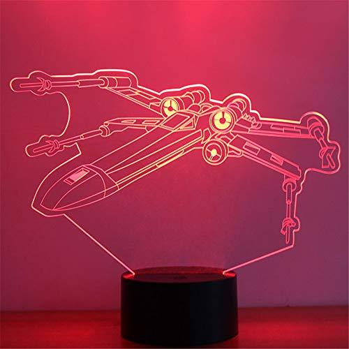 Lampe des Hubschrauber-3D LED mit Nachtlichtern des Flugzeug-kleine Flugzeug-3D 7 Farbänderung für Hauptschlafzimmer scherzt Geschenke ## 3 - Asiatischen Outdoor-beleuchtung