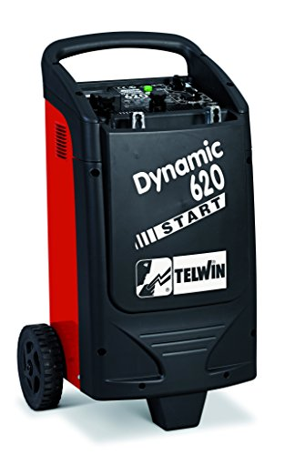 Telwin Dynamic 620 Start - Cargador arrancador (2000 W, 230 V), color rojo y negro