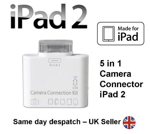 iPad - 5 in 1 Camera Connection Kit Kartenleser SD TF für iPad 2