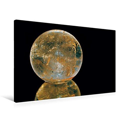 Premium Textil-Leinwand 75 cm x 50 cm quer, Bergkristall Kugel | Wandbild, Bild auf Keilrahmen, Fertigbild auf echter Leinwand, Leinwanddruck: Die ......