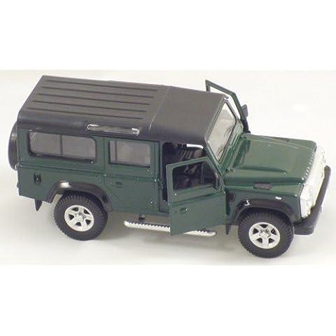 13 centimetri verde Die Fusioni RMZ Land Rover Defender tirare indietro And Go veicolo
