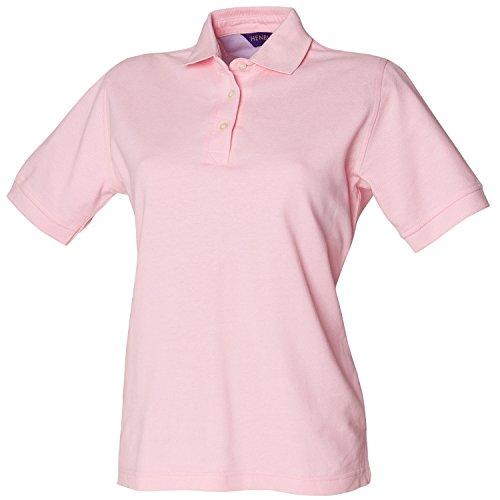 Henbury Damen Poloshirt Ladies Cotton Polo Shirt Pink