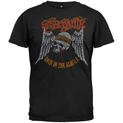 Old Glory - Camiseta - Hombre de color Negro de talla XX-Large - Aerosmith - Uomo Back In The Saddle (Camiseta) 2X-Large Nero