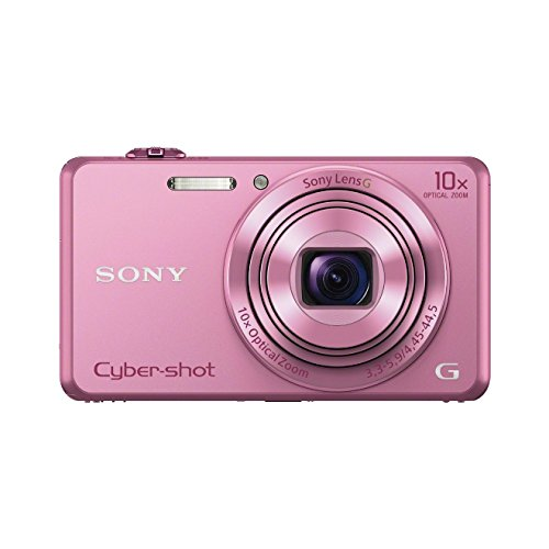 Sony DSC-WX220 Digitalkamera (18 Megapixel, 10-fach opt. Zoom, 6,8 cm (2,7 Zoll) LCD-Display, NFC, WiFi) pink - Sony Wasserdichte Digitale Kamera