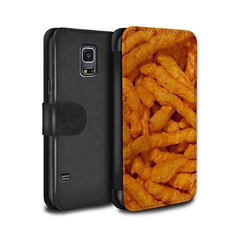 STUFF4 PU-Leder Hülle/Case/Tasche/Cover für Samsung Galaxy S5 Mini / Nick Nacks Muster / Imbiss