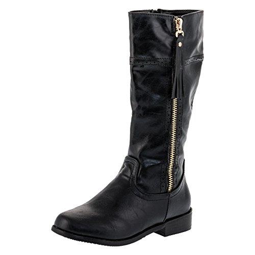 Mädchen Stiefel in mehreren Farben #263sw Schwarz Gr.33 (Schwarze Stiefel Für Mädchen)