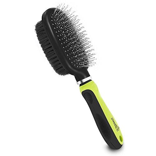 Pecute Hundebürste Katzenbürste mit Drahtstiften Borsten Lange Haare