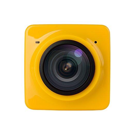 Develop Cube 360 Sports Video Camera WIFI H.264 360 Degrees Panorama Camera 360x190 Large Panoramic Shot MINI Sports Camera_Yellow