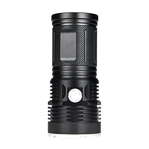 Oyedens 18 x CREE XM-L T6 LED 2000 Lm Super Hell Outdoor LED Beleuchtung Taschenlampe Reisen Camping Lampe Beleuchtung 3 Modus 8000 Lumen mit Komplett-Set inkl. (nicht eingeschlossen 4×18650 Akku)