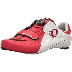 Pearl Izumi Pi M Elite Rd V5, Zapatillas de Ciclismo de Carretera Hombre, Blanco (Blanco/Rojo), 46 EU