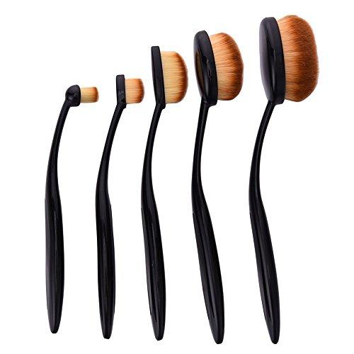 Greencolourful 5Pcs Toothbrush-Style Pratique Pinceaux Maquillage Multifonctions Pinceaux Fondation Pinceaux Set Outils