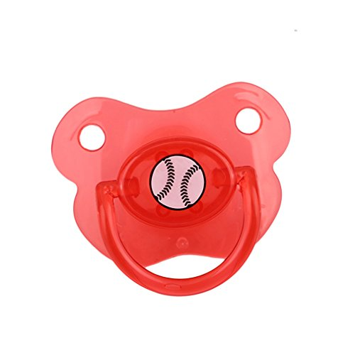 Lalang Silicone Funny Ball Nipple Dummy Baby Infant Soother Nipples Teether Baby Pacifier Care Nipples (red)