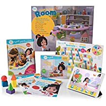 Cleo & Cuquin Family Fun! 3d Shapes Math Kit and App: Kindergarten Readiness, Learn Shapes With Stories, Activities, Games, Drawing, Video and Ar