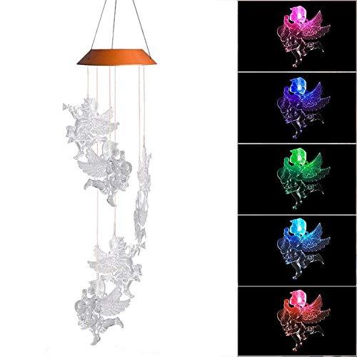Wind Glocken Lichter Farbwechsel Engel Baby Lampe Automatische Sensor Garten Spinner Sechs Glocken Indoor Outdoor Lichter Für Home Party Festival Dekorationen ()