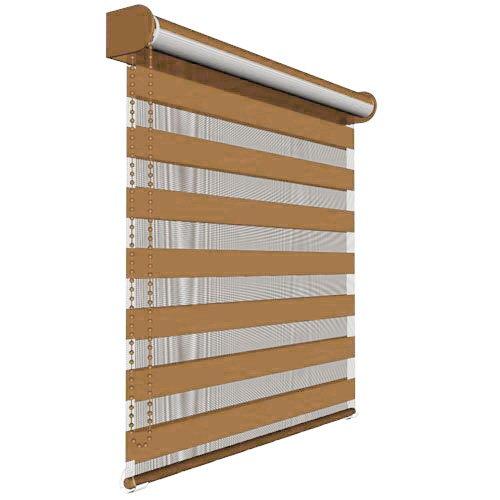 Victoria M. - Estor doble enrollable (para ventanas y puertas) 150 x 230 cm, Marrón