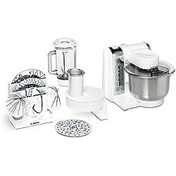 Bosch MUM48CR1 - Robot de cocina, blanco, acero inoxidable