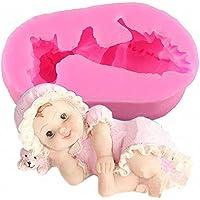 Inception Pro Infinite Molde de Silicona para Uso Artesanal de un bebé acostado en la Cabeza