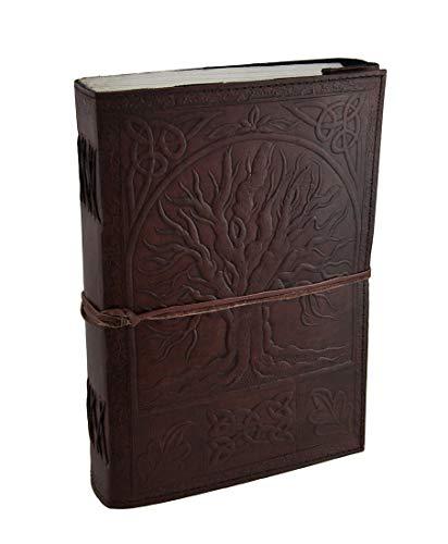 Urbankiertes großes geprägtes Leder Baum des Lebens 184 Blatt Tagebuch Journal mit Verschluss -